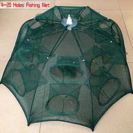 Discount nylon cage - automatic NEW Automatic Shrimp Cage Nylon Foldable Crab Fish Trap Cast Net Cast Folding Fishing Network
