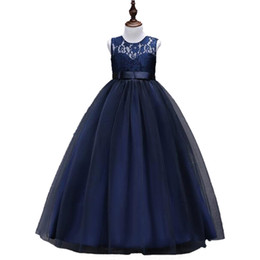 53d6fd4631 2018 ebay amazon hot selling ball gown flower girl dress lace bodice tulle  promotion children party dress