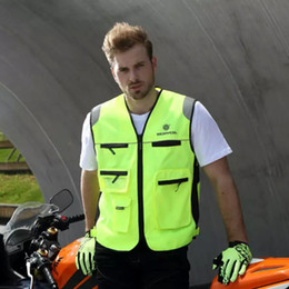 Discount reflective safety vests motorcycle - Motorcycle Roadway Reflective Jacket Safety Clothing Scoyco JK30-2 Chaleco Reflectante Protective Vest Ropa Moto High Vi