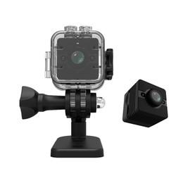 Pen Video Camera Hd Canada - SQ12 Waterproof Mini Camera degree wide-angle lens HD 720P Video Voice Recorder DVR Recording Digital Pen Camera pk SQ11 SQ8 Q7