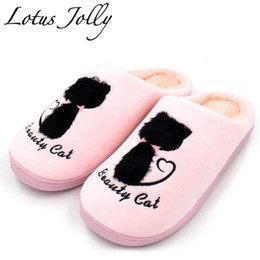 f8357eda303 Home Slippers Soft Plush Cotton Cute Slippers Shoes Non-slip Floor Indoor  House Home Fur Women Shoes For Bedroom