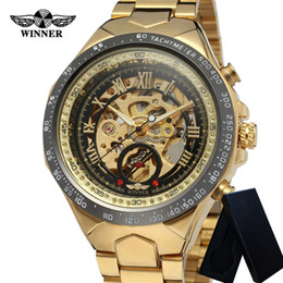 Chinese  Winner Automatic Mechanical Mens Watches Stainless Steel Skeleton Man Clock Top Brand Luxury Sport Male Wristwatch 0014 manufacturers