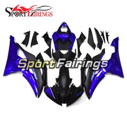 $enCountryForm.capitalKeyWord NZ - New Motorcycles Complete Fairing Kit For Yamaha YZF600 R6 YZF-R6 2008 - 2016 13 14 15 Injection ABS Plastic Motorcycle Gloss Black Blue Hull