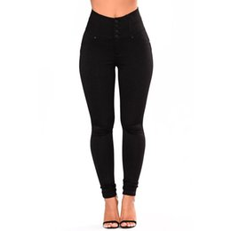 10ad510e276ad Black High Waist Button Leggings Sexy Woman Hollow Out Strappy Leggings High  Quality Butt Lifting Skinny Leggings Lc77063