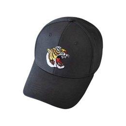 14f3d8c18a9 Adult Ball Caps Unsiex Fashion Baseball Cap Tiger Embroidery Men Adjustable Ball  Cap Women Sunshade Cap For Outdoor Travel
