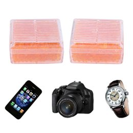 Venta al por mayor de OOTDTY T 2Pcs desecantes de gel de sílice absorben la caja seca reutilizable a prueba de moho para la cámara de color naranja