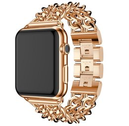 Sales Smart Watches NZ - NEW SALE Stainless Steel Watch band Strap for apple watch 42 mm 38 mm link bracelet Replacement Watchband for iwatch serise 1 2 3