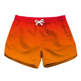 89fbe27865 Women Short Beach Shorts Orange Ombre 3D Full Print Girl Casual Swimming  Shorts Lady Digital Graphic Beach Pants Boardshort (RLLbp-6019)