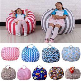 Lazy Bean Bag Sofas Animal Toys Storage Stuffed Children Plush Toy Organizer Creative Chair For Kids KKA3985