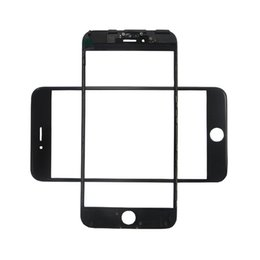 iphone outer bezel NZ - 3 in 1 LCD Outer Screen Glass With OCA Film Installed + Cold Press Bezel Frame For iPhone 6S Plus