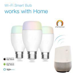 Hub led lamp For Sale - WiFi Smart LED Light Bulbs W E27 Wireless WiFi Remote Control Smart Bulb Lamp Light Works with Alexa Google Home No Hub Required