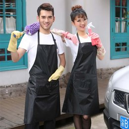 Wholesale 1Pcs Waterproof Anti Oil Restaurant Hotel Kitchen Apron Men and Women Car Wash Clothes Thickening PVC Aprons Workwear