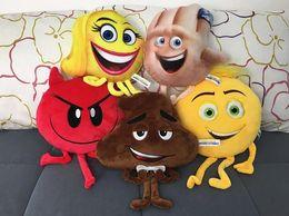 New Crazy Toys NZ - 2017 New Cartoon The Emoji Movie Express Yourself Plush Toy 5 Styles Stuffed Doll Crazy Happy Emoji Toys Gifts For Kids b964