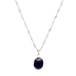 Pearl Pendant Charms Wholesale Australia - Fashion charm pearl jewelry natural freshwater pearl pendant 13-14mm black pearl pendant women charm jewelry wholesale
