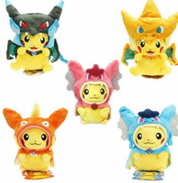 Pokemon Kids Figures Australia - Poke Figures Plush Dolls Toys Pikachu Cosplay Mega Charizard gyrados Stuffed Animal Dolls Children Toys Stuffed Animals Toy Doll KKA4115