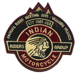 ingrosso moto giacche stati uniti d'america-Indian Patch per ricamo Freedon Patch per ciclisti Gruppo USA per giacca da motociclista Club Biker pollici Made In China Factory