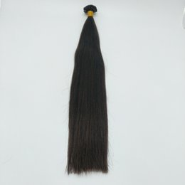 Italian Hair Extensions UK - black straight fusion human hair V-tip extension with 1g strand,100g pack,by imported italian glue,very strong bond,your different style!