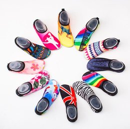 Skin loverS online shopping - Print Diving Socks Snorkeling Sock Lovers Couples Non slip Swimming Beach Shoes Skin Care Shoe pair Water Fun pairs OOA5282