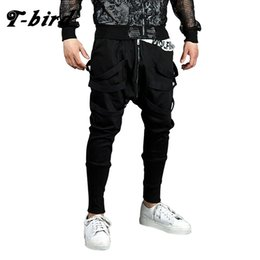 $enCountryForm.capitalKeyWord Canada - T-bird Men Casual Pants Mens Joggers Pant 2018 Brand Male Hip Hop Cotton Pants Solid Lacing Slim Tights Street Style Men's Pants C18110901