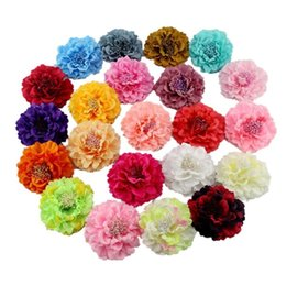 China Free Shipping Fabric Blooming Peony Flower Corsage Brooch Woman Hair Decoration Brooch Wedding Party Hair Clip Bridal Wedding Flower suppliers