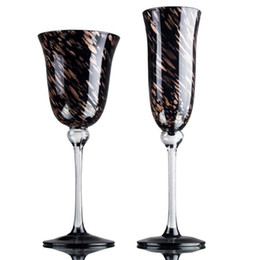 Black Crystal Wine NZ - Wholesale-Free Shipping 220ML 21.5cm Lead-free Crystal Black Red Wine Cup Glass Safest Package with Reasonable Price