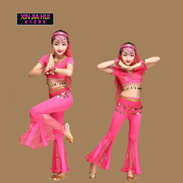 Discount indian costume kids - Sari Girls Set Orientale Enfant Indian Jewelry Costumes For Kids Oriental Belly Dance Dancer Clothes Deadpool Egypt trib
