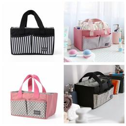BaBy diaper handBags online shopping - Mummy Diaper Bag Stroller Handbag Waterproof Canvas Baby Separate Nappy Bags Large Capacity Outdoor Travel Storage Bag GGA888