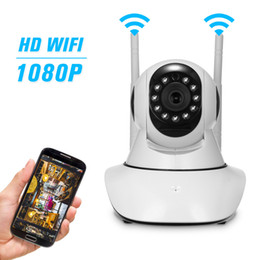 $enCountryForm.capitalKeyWord NZ - Wireless 1080P Security Camera WiFi IP Camera P2P Network PTZ with TF Card Slot Baby Store Office Pet Elder Monitoring