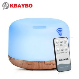 remote oil Australia - KBAYBO 550ml Remote Control Ultrasonic Humidifier With 7 Color LED Lights Electric Aromatherapy Essential Oil Aroma Diffuser
