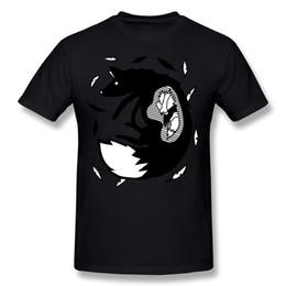 $enCountryForm.capitalKeyWord UK - Hot Sale Man Pure cotton All you can eat hungry fox animal art Tee Shirt Man Crew Neck Dark Blue Short Sleeve Tee Shirt S-6XL Unique Tee Shi