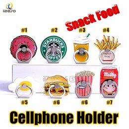 Acrylic tAblet stAnd online shopping - Universal Cute Ring Phone Holder Cute Snack Foods Doughnuts Acrylic Cellphone Stands for iPhone Samsung Tablet Degree Finger Holders