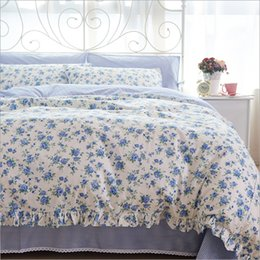 Flowered Bedding Sets 2018   Wholesale Korean Rural Style Lace Small Floral  Design Duvet Cover