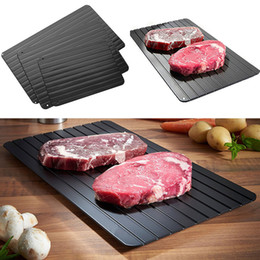 Fast Defrost Thaw Tray Defrosting Tray Meat Frozen Food Quickly Without Electricity Microwave Thaw Frozen Food Kitchen Accessories WX9-455 on Sale