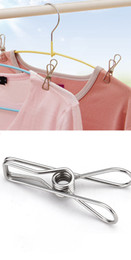 Discount wire clothes rack - Spring Clothes Clips Stainless Steel Pegs For Socks Photos Hang Rack Parts Portable Multifunction Holder Accessories Wir