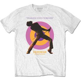Queen Freddie Mercury Bohemian Rhapsody Mic Camiseta oficial Camiseta MensRETRO VINTAGE Camiseta clásica