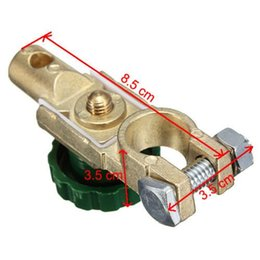 Wholesale Brass car power switch battery pile header terminal block connector power protection leakproof battery chuck
