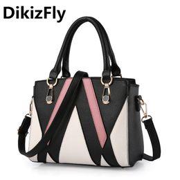 DikizFly New women bags High Quality PU Leather Women Top-Handle bag Brand  Name Bag Ladies Handbag Brand Design Messenger bags d856eb1882ad5