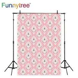 $enCountryForm.capitalKeyWord Canada - Funnytree background for photo studio damask pink Vintage pattern for decor photography backdrop photocall photobooth printed