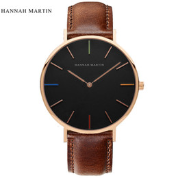 $enCountryForm.capitalKeyWord Canada - Hannah Martin Lovers' Style Men Watch Leather Nylon Strap Top Brand Luxury Watch Women Watches Men Rose Gold Clock saat relogios