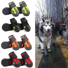 China 2018 Updated Small Medium Large Sizes Outdoor Dog Shoes For Sports Mountain Wearable For Pets Tpr Soles Waterproof Reflective Boots cheap mountains shoes suppliers
