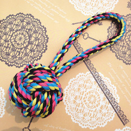 $enCountryForm.capitalKeyWord NZ - Pets dogs rope Chews Cotton rope ball Puppy Cotton Chew Knot Toy Durable Braided Bone Rope 23CM Funny Tool