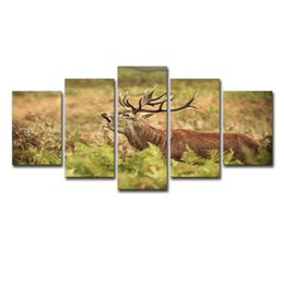 canvas prints for kids room Australia - Wall Canvas Art Modern Print Painting Poster Wall Modular Picture 5 Piece Animal Deer For Home Decoration Painting Kids Room