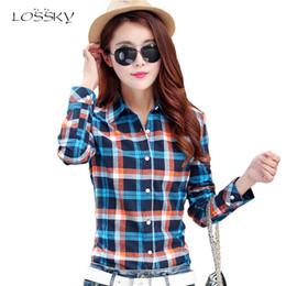 816df8525ab54d 2018 Autumn Women's Fashion Plaid Cotton Shirt Female College Style Blouses Long  Sleeve Flannel Shirts Plus Size Office Tops 5XL