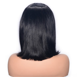 $enCountryForm.capitalKeyWord UK - Mongolian Virgin Human Hair Bob Wigs for Women Straight Lace Front Wig Natural Color Glueless Lace Wig Ping