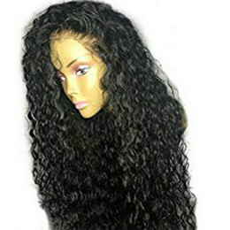 Chinese  360 Lace frontal wig afro kinky curly brazilian lace front human hair wig pre plucked 130%density for black women manufacturers