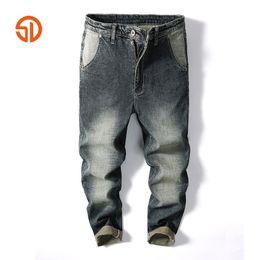 31fde43c Casual Mens Jeans Pants Multi Cargo Wide Leg Loose Jeans For Men Hip Hop  Baggy Homme Denim Pants Harem Long Trousers