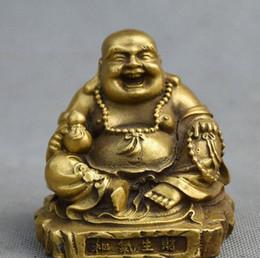 $enCountryForm.capitalKeyWord Australia - Chinese Buddhism Temple Brass Sit Happy Laugh Maitreya Buddha Gourd Statue