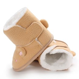 cute baby boy boots 2019 - New Winter Baby Boots Infant Toddler Newborn Cute Cartoon Mouse Shoes Girls Boys Super Keep Warm Snowfield Booties M1 ch