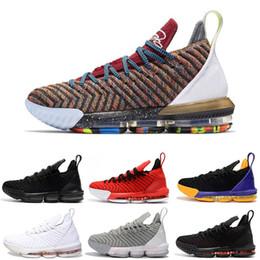 new york 922b2 0bc0f Lebron Jams 16 1 a través de 5 Barato El mejor descuento para hombre 16  zapatos de baloncesto LO QUE EL Triple negro FRESH BRED Lakers rojo hombres  atlético ...