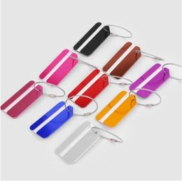 $enCountryForm.capitalKeyWord NZ - Aluminum Alloy Airline Label keychain Travel ID Bag Tag Metal Hang Tag with Stainless Steel String Luggage Tag Card Holder CCA8710 1000pcs